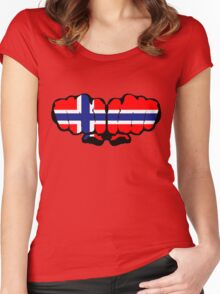 Norwegian Fists Women's Fitted Scoop T-Shirt