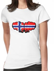 Norwegian Fists Womens Fitted T-Shirt