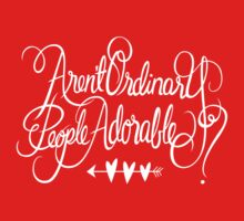 Aren't Ordinary People Adorable? Kids Clothes
