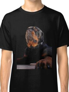 Regal and Proud Male Rottweiler Portrait Isolated Classic T-Shirt