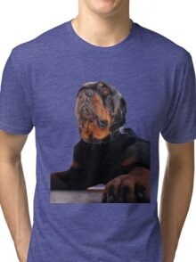 Regal and Proud Male Rottweiler Portrait Isolated Tri-blend T-Shirt