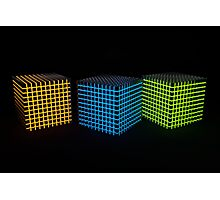 Glowing shiny cubes Photographic Print