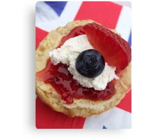 The Great British Scone Canvas Print