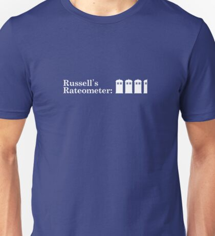 Russell's Rateometer (WHITE) Unisex T-Shirt