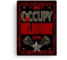 Occupy Melborne  occupy wall street poster Canvas Print