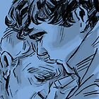 Johnlock in Blue  by IncenetFalconer