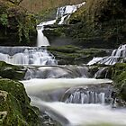 Welsh Waterfall  by Gary Richardson