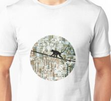 Monkey on the Wire Unisex T-Shirt