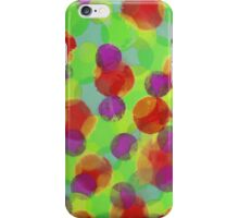 Bleeding Tissue Paper Circles - Super Saturate iPhone Case/Skin