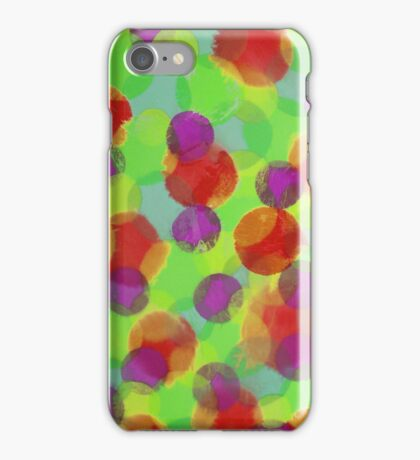 Bleeding Tissue Paper Circles - Super Saturate iPhone Case/Skin