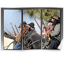 triptychs of the Civil War Reenactment Poster