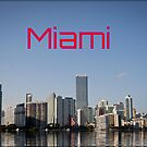 MIAMI Skyline  by Daniela Cifarelli