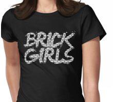 'Brick Girls' (white) Womens Fitted T-Shirt