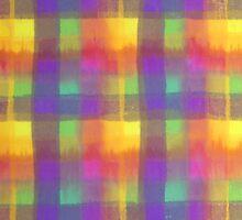 Bleeding Tissue Paper Plaid by Justpastone
