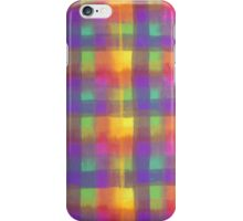 Bleeding Tissue Paper Plaid iPhone Case/Skin