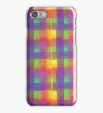 Bleeding Tissue Paper Plaid iPhone Case/Skin