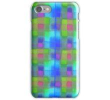 Bleeding Tissue Paper Plaid - Blue iPhone Case/Skin