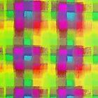 Bleeding Tissue Paper Plaid - Neon by Justpastone