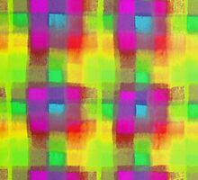 Bleeding Tissue Paper Plaid - Neon by Justpastone