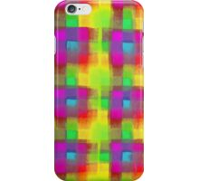 Bleeding Tissue Paper Plaid - Neon iPhone Case/Skin