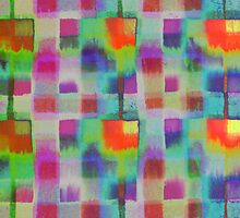 Bleeding Tissue paper Plaid - Squares by Justpastone
