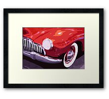 Red Rod Framed Print