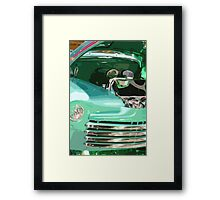 Green Rod Truck Framed Print