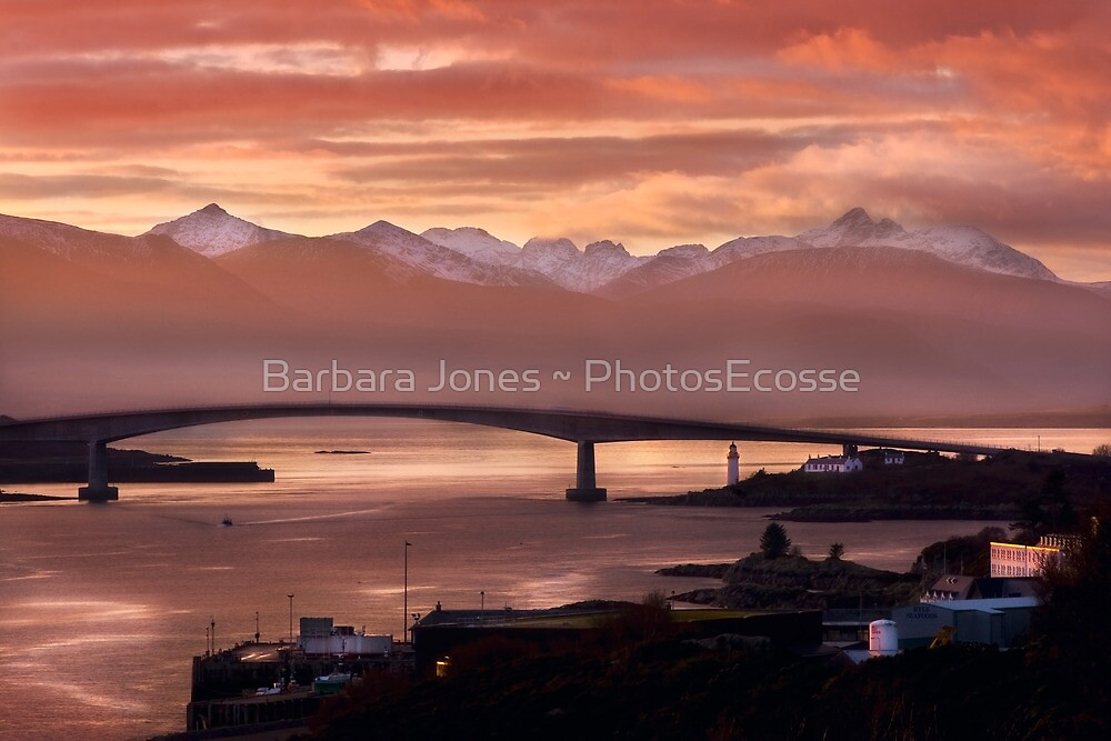 Skye Bridge at Sunset, Winter. Isle of Skye. Scotland. by photosecosse /barbara jones