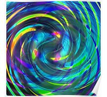 Rainbow Sandy abstract from valxart.com  Poster