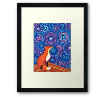 Star Gazing Fox Framed Print