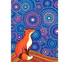 Star Gazing Fox Photographic Print