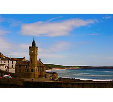 Entrance to  harbour of porthleven Photographic Print