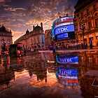 After the Rain. Picadilly Circus. London.  by classyemu