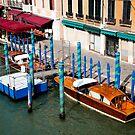Gondola parking. Venice by Dfilyagin