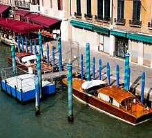 Gondola parking. Venice by Dfilyagin