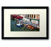 Gondola parking. Venice Framed Print