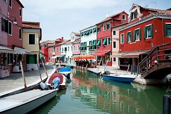 Venice, Burano island canal by Dfilyagin