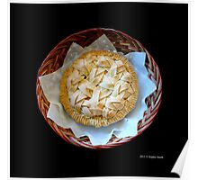 Home Made Honeycrisp Apple Pie In Wicker Basket  Poster