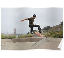 San Francisco Skateboarder Poster