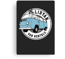 Back to the Future 'Libyan Van Rentals' Logo Canvas Print