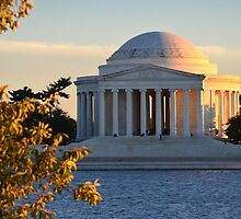 Sunset on the Jefferson Memorial by John D'Alessandro