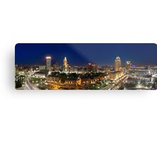 Panoramic view of Downtown Providence at Night Metal Print