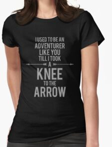 Knee to the Arrow Womens Fitted T-Shirt