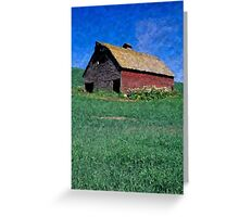 Barn Rural Life Farm Poster, Print & Card Greeting Card