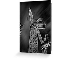 Night Crane Greeting Card
