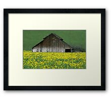 Barn Rural Life Farm Poster, Print & Card Framed Print