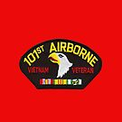 101st Airborne Vietnam Veteran Patch -  iPad Case by Buckwhite