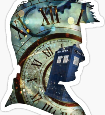 Doctor Who - Time spiral & Tennant Sticker
