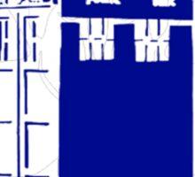 TARDIS Hearts Sticker