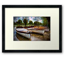 Shakespeare's boats at Stratford upon Avon, UK Framed Print